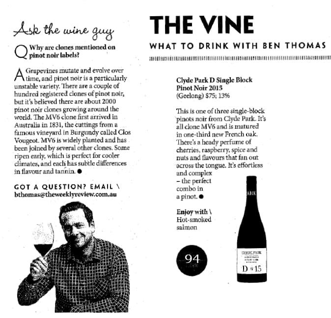 The Vine Ben Thomas May 4 2017